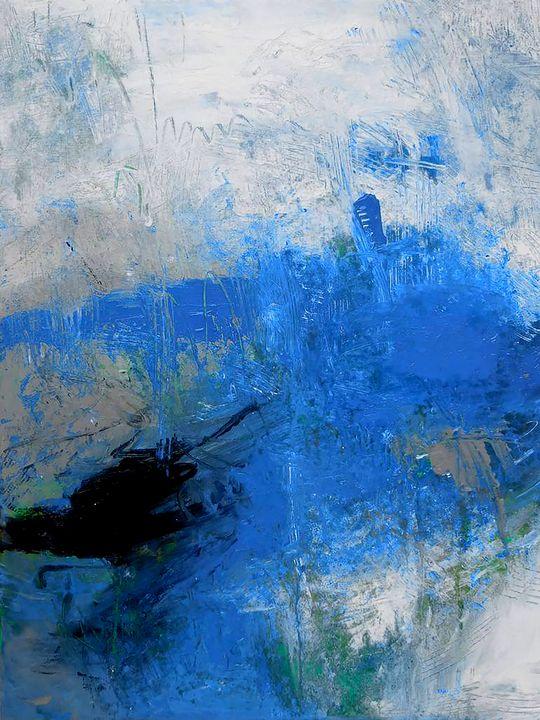 Blue Man - Ron Halfant's Paintings
