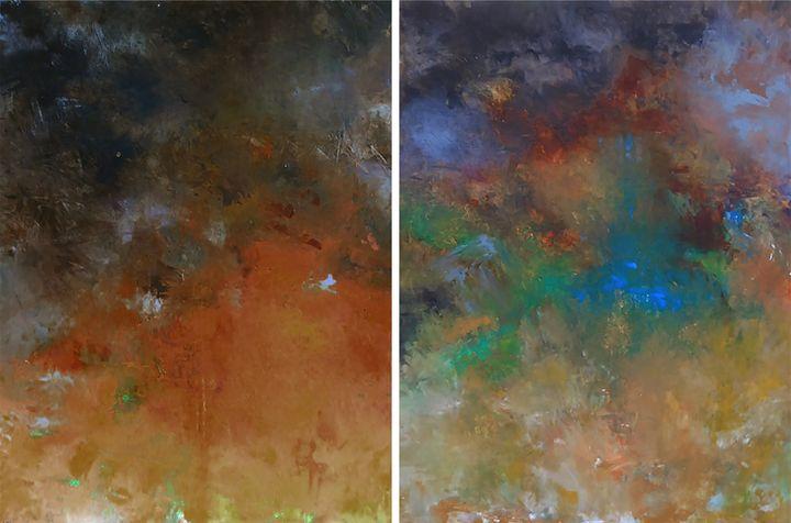landscape 122-123 - Ron Halfant's Paintings