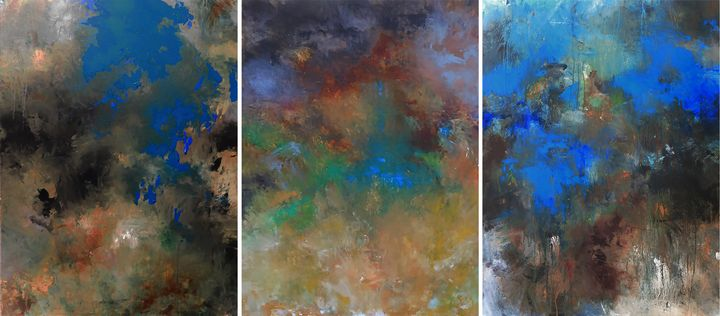 Yesterday III  40x90 inches - Ron Halfant's Paintings