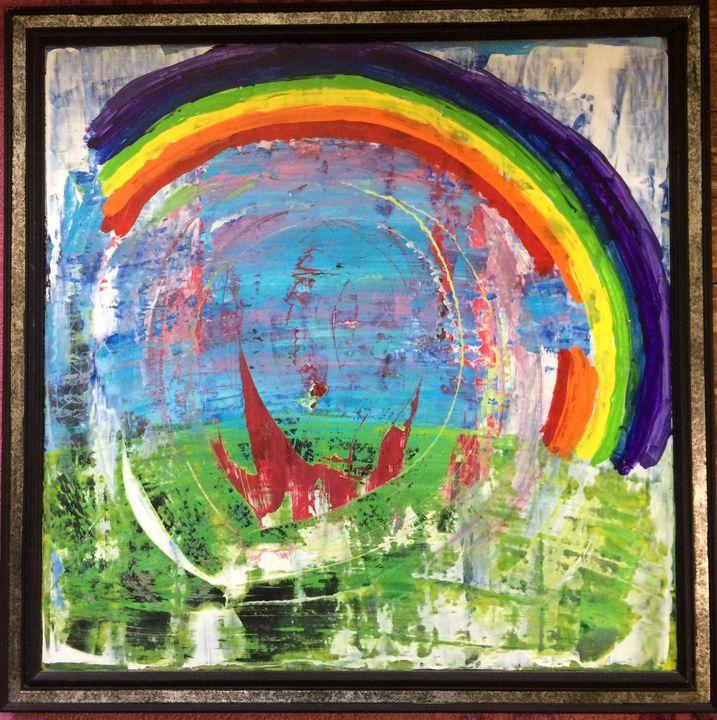 rainbow vomit - Aaron O Art