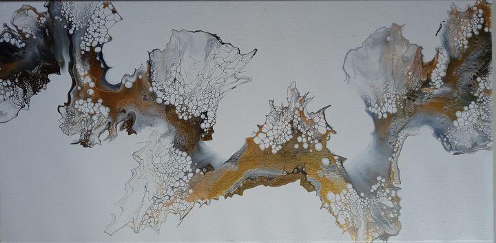 """Jewel"" Original Art 12x24 Canvas - Art By Laura"