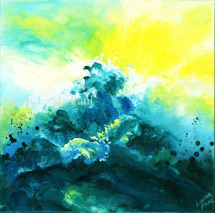 "Wave Energy 10 x 10"" Acrylic - Linda Paul Studio"