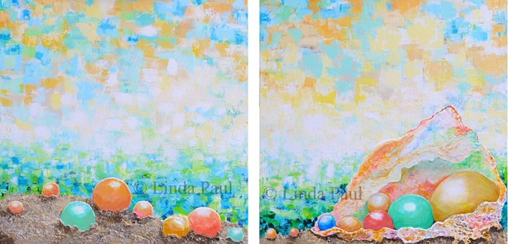 Beach Art Paintings by artist Linda - Linda Paul Studio