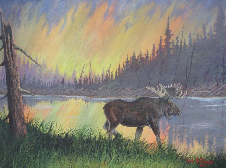 Escaping The Yellowstone Fires - Bob Williams Fine Art