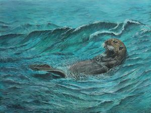 It's My Otter Day Off.... Painting