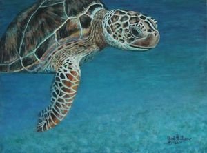 The Giant Sea Turtle........Painting