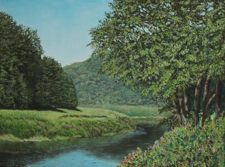 The Wye River Of Wales......Painting - Bob Williams Fine Art