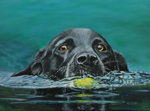 Next Time You Fetch It......painting - Bob Williams Fine Art