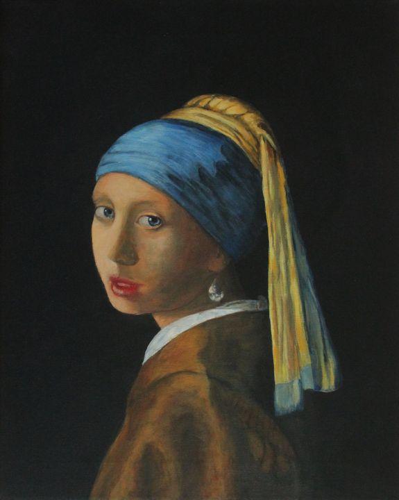 Girl With A Pearl Earring - Bob Williams Fine Art