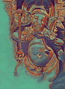 ganesh abstract 9   12 x 18 inch