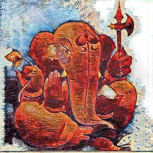 Ganesh 13 - size  18 x 18 inch