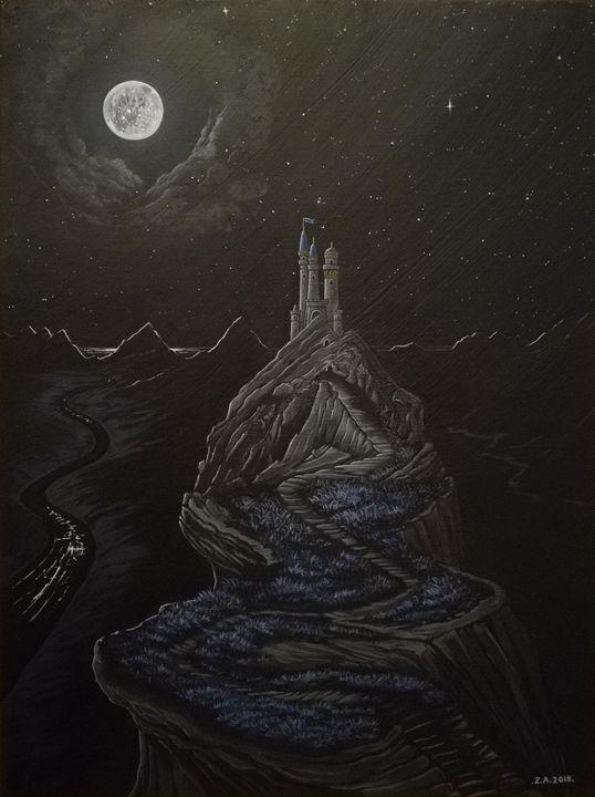 Castle by the Sea. - Zoe Adams Artwork