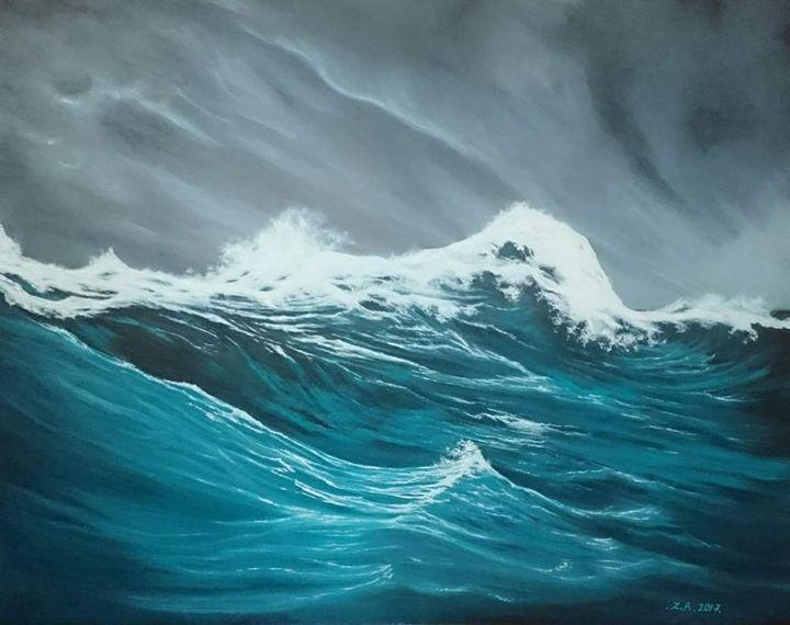 Sea storm. - Zoe Adams Artwork