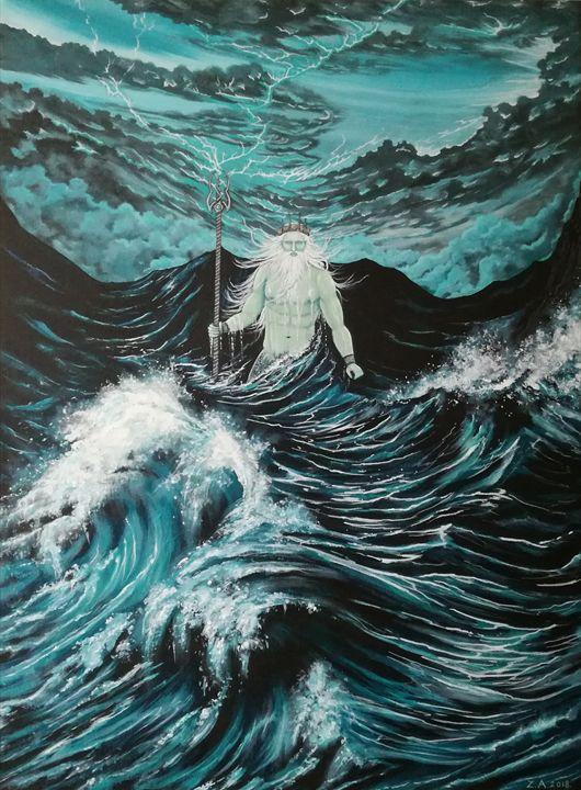 Neptune Rising. - Zoe Adams Artwork