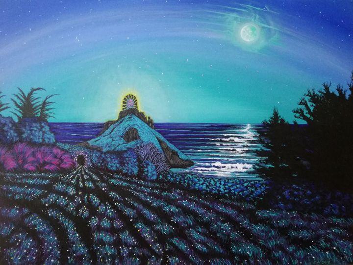 Gateway/ Thatchers Rock. - Zoe Adams Artwork