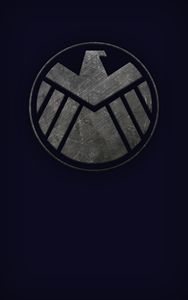 SHIELD Phone Wallpaper (Blue)