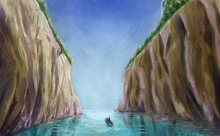 Flowing down the river - Fabio Sanna Art