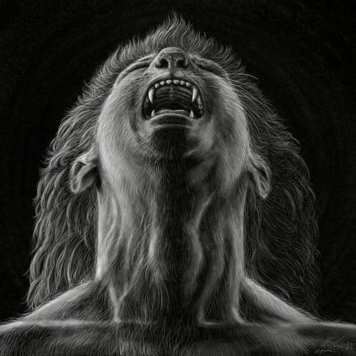 """Human being animal: Lion"" - Fabio Sanna Art"