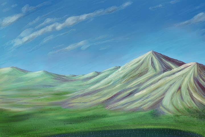 Mountains on the lake - Fabio Sanna Art