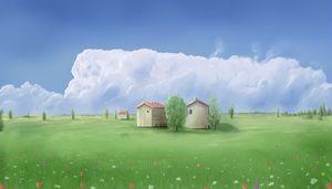 Italian fields in springtime