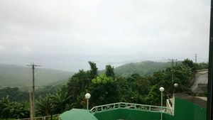 over looking view of taal volcano