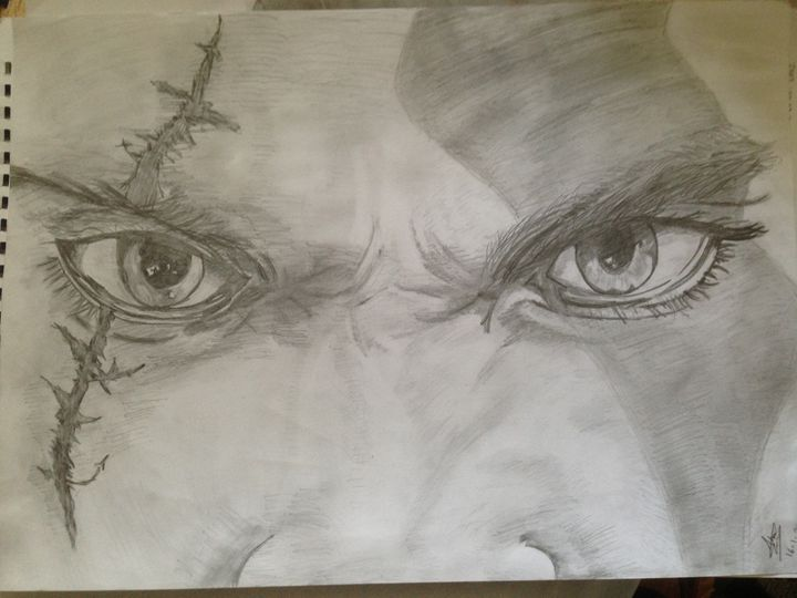 Kratos The God Of War - The Black & White gallery