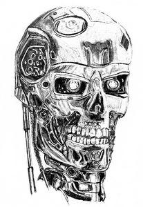 humanoid robot sketch
