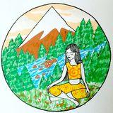 namaste yogi girl