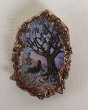 Unique talismanic artisan brooch