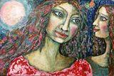 Original mixed media acrylic paintin