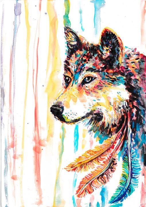 Rainbow Wolf - Cheryle Bannon