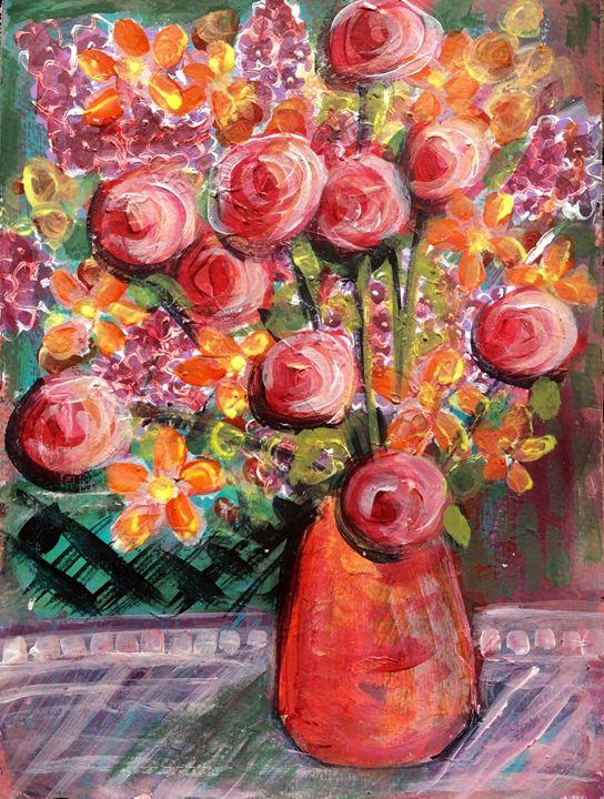Orange and peach bouquet - Cheryle Bannon