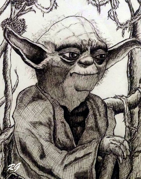 Star Wars Yoda Original Portrait - RGIllustration