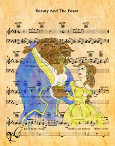 Beauty and the Beast Music Artwork - RGIllustration