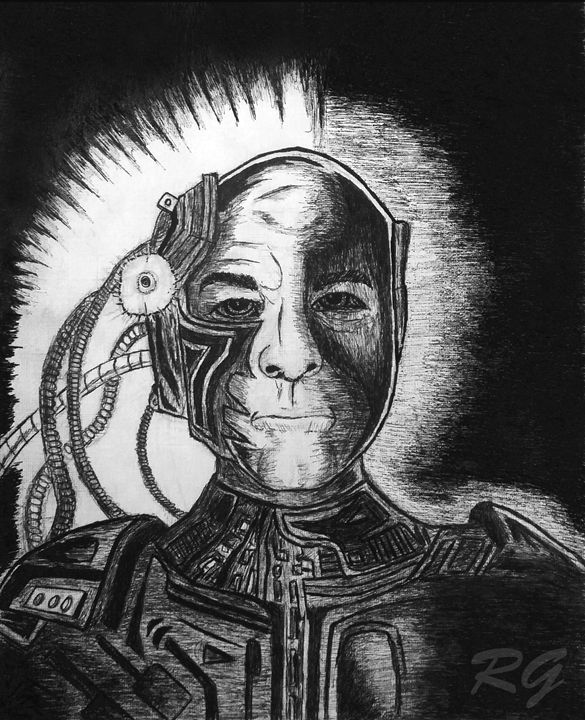 Star Trek TNG Picard Locutus Artwork - RGIllustration