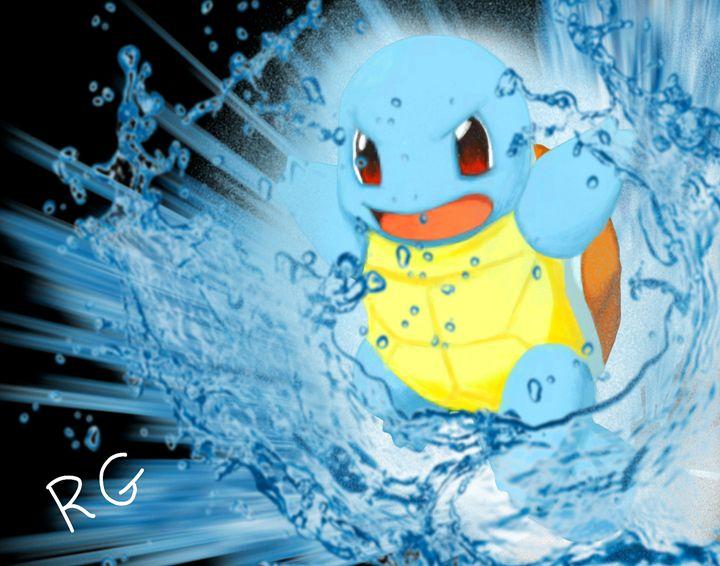 Pokemon Squirtle Original Artwork - RGIllustration