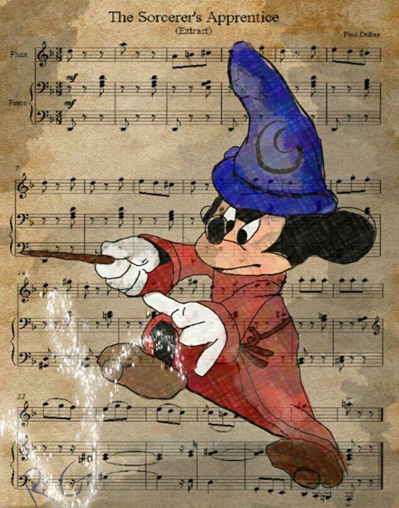 Mickey Mouse Sorcerer's Apprentice - RGIllustration