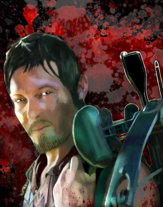 Walking Dead Daryl Dixon Portrait - RGIllustration