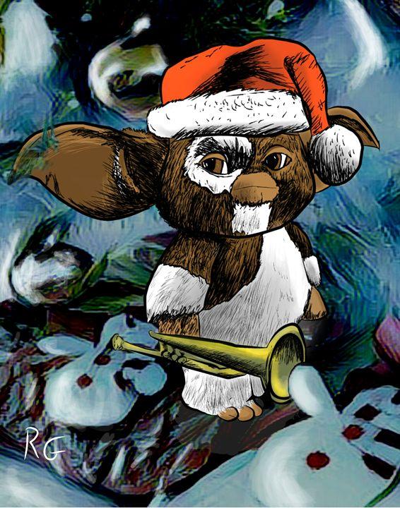 Gremlins Gizmo Christmas Artwork - RGIllustration