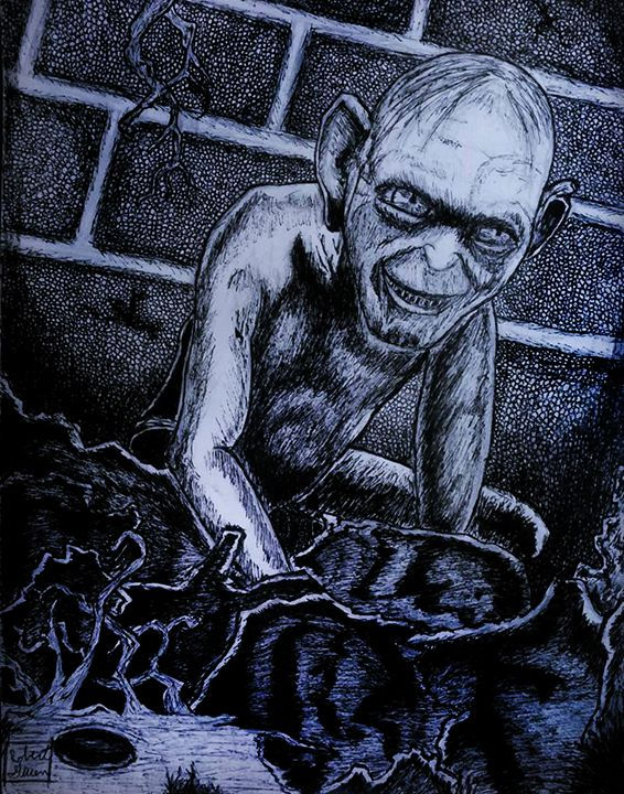 Lord of the Rings Gollum Portrait - RGIllustration