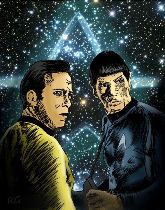 Star Trek Kirk and Spock Portrait - RGIllustration