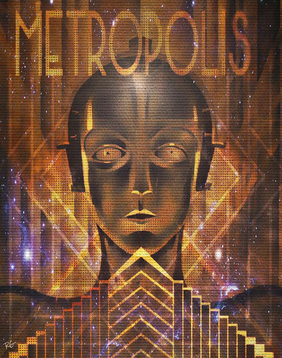 Metropolis Sci Fi Artwork - RGIllustration