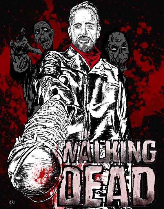 The Walking Dead Negan and Lucille - RGIllustration