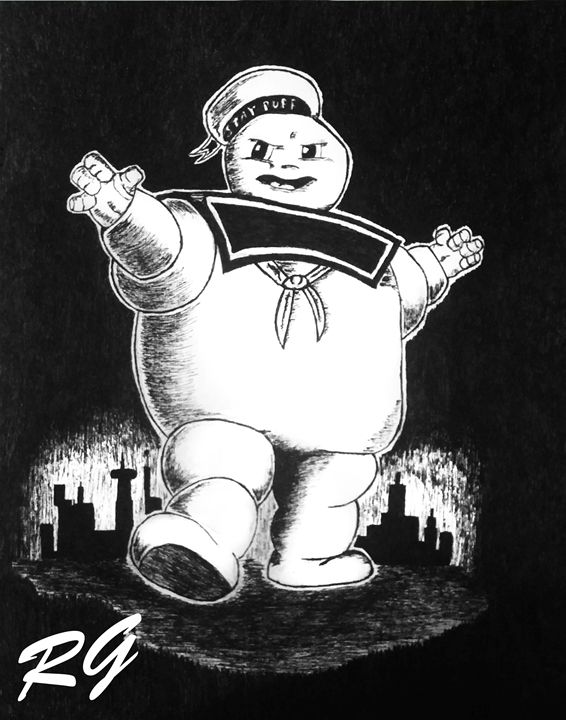 Stay Puft Marshmallow Man Artwork - RGIllustration