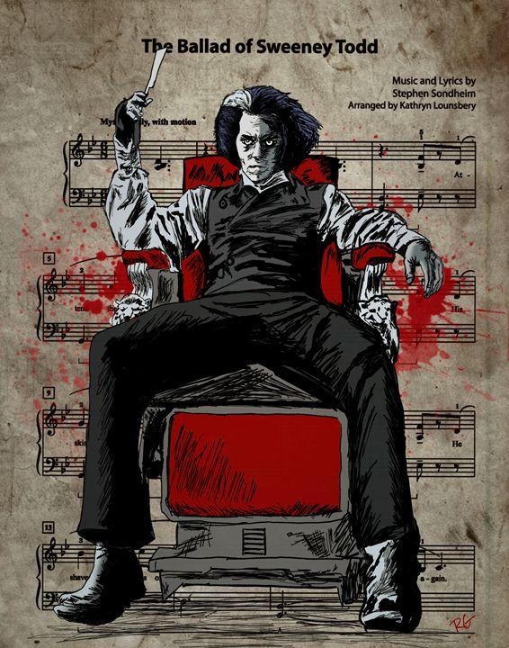 Sweeney Todd Johnny Depp Portrait - RGIllustration