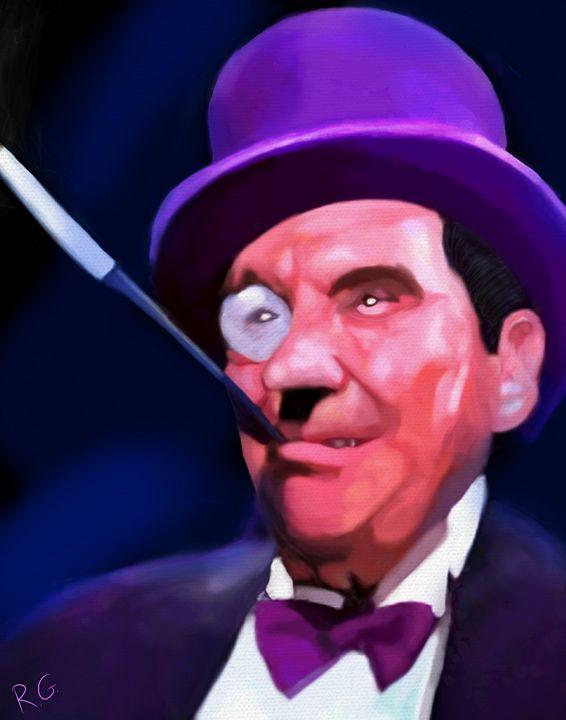 Batman Penguin Burgess Meredith - RGIllustration