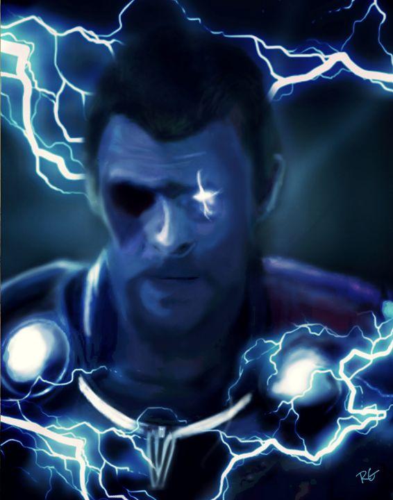 Thor Ragnarok Original Portrait - RGIllustration