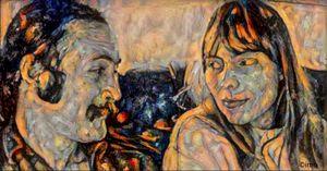 David Crosby and Joni Mitchell