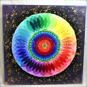 Original hand painted Mandala Canvas