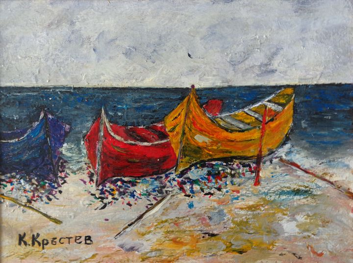 Fishing Boats On The Shore - ART88